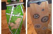 Rénovation bricolage longboard (graphiques et grip tape)
