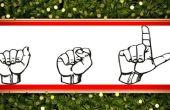 American Sign Language : Communication conversation de base et salutations de vacances