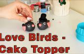 Comment faire un sucre pâte Fondant Love Birds Cake Topper