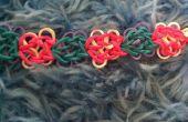 Papillons fleurs Rainbow Loom Bracelet