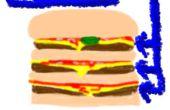 Bon marché triple cheeseburger de Macdonalds