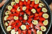 Tarte aux fruits crus (avec remplissage cacao)