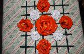 Roses avec cadre en papier