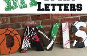 Lettres en bois sur le thème de sport