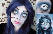 Corpse Bride maquillage Tutorial-8 étapes faciles