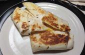 Beurre d'arachide, gelée et Wrap déjeuner oeuf