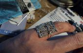 Functional soudé Abacus Pinky Ring