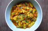 Curry de pommes de terre et chou-fleur