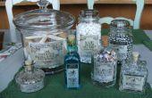 Steampunk, victorien, Mad Scientist apothicaire bouteilles