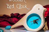 Horloge en bois d'oiseau