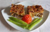 Saumon fumé et aux champignons Lasagne