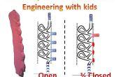 Faire une vanne modulaire tesla hors argile de mousse - une bonne façon de démontrer l'ingénierie et la physique des fluides aux enfants