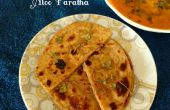 Aloo Paratha (pain plat de blé entier avec garniture de pommes de terre)