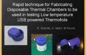 Une technique rapide pour fabriquer des chambres thermique jetables à être utilisé pour l'essai à basse température USB alimenté Thermofoils et éléments chauffants