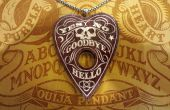 Amarante Ouija pendentif avec incrustations d'argile polymère