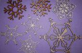 Décorations de Noël flocons avec coupe au laser !