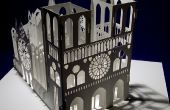 La carte de Notre Dame cathédrale pop-up Kirigami Origamic Architecture
