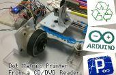 Imprimante matricielle d'un lecteur de CD/DVD avec Arduino