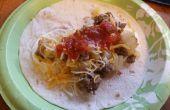 Comment faire des pommes de terre et saucisse Burritos