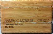 Ajout d'un moniteur de batterie pour batterie au Lithium en bambou