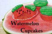 Pastèque Cupcakes : Faite avec vraie Watermelon