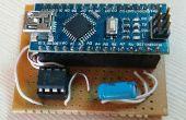 Arduino Nano comme programmeur Attiny 85 et 5 LED POV