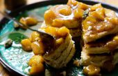 Crêpes saveur indienne avec mangues