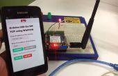 Distance LED contrôlé à l'aide de téléphone portable et Internet