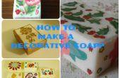 Comment faire des savons décoratifs (découpage)