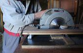 Comment convertir une scie circulaire à main dans une scie à tronçonner à l'aide de matériaux de rebut.  Bricolaje : Mesa de Sierra, mediante el uso de materiales recuperados