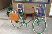 Pannier de vélo de vieux porte-documents