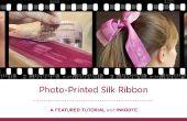 Photo imprimé ruban de soie