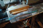 Ciseau bois tourné d'une lame de scie à métaux de puissance, + facultatif scriber metal Old School.