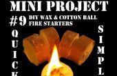 Mini projet #9: Cire bricolage & ouate allume-feu