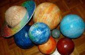 Hors de ce monde Papier mâché planètes