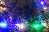 Réactif vacances Noël LED lumières de son