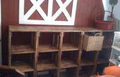 Stockage de salle de jeux de caisse bois modulaire