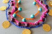 BRICOLAGE collier crocheté un bracelets avec perles
