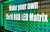Réaliser votre propre matrice de LED RVB 15 x 10
