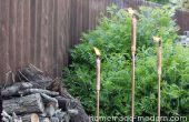 Maison moderne bricolage cuivre Tiki Torches