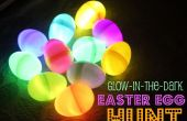 Lueur dans les oeufs de Pâques foncés