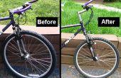 Remplacer une fourche de vélo de montagne pour les vedettes âgées