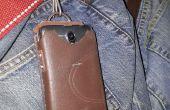 Cas de téléphone ultra très bon marché de vieux cuir bottes de travail.