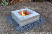 Maison moderne bricolage béton Fire Pit