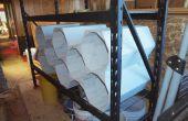 Fabrication de séparateurs de tablette / organisateurs de junk bois et vieux lambris.