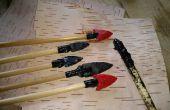 Résine de goudron de bouleau de l'artisanat de paléo et fabrication d'outils