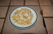 Pâtes crémeuses de poulet avec légumes