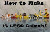 Comment faire de 15 animaux LEGO !