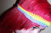 Bandeau de l'arc-en-ciel et la fille aux cheveux rouge