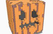 Jack-O-Lantern 3D de Minecraft